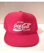 Vintage Enjoy Coca-Cola Classic Snapback Trucker Mesh Foam Cap Hat Red N... - $18.22