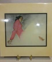 "R.C. Gorman Deco Art Tiles 12x12 ""Julia"" 1982 Navajo Indian - $39.99"