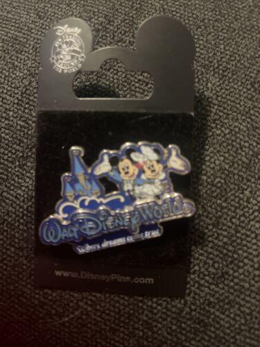Walt Disney World Trading Pin Mickey Minnie Castle Where Dreams Come True - $14.84