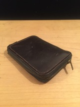 Vintage 50s Cordovan (Equine Leather) Zippered Key Wallet image 2