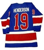 Any Name Number Toronto Toros Retro Hockey Jersey New Blue Any Size image 2