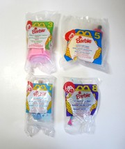Lot of 4 1995 McDonald's BARBIE Happy Meal Toys - Bubble Angel - Lifegua... - $14.50