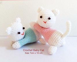 Crochet Baby Cats, 7 cm tall, crochet amigurumi,crochet gift - $7.50