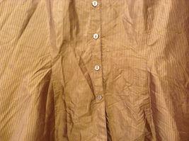 Worthington Women's Petite Size 10 10P Shirt Silk Button Down Top Brown Striped image 4