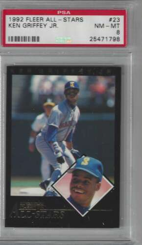1992 Fleer All Stars #23 Ken Griffey Jr. PSA 8 NM-MT Mariners