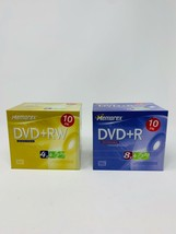 Memorex Recordable DVD 10 pk DVD+RW and 10 pk DVD+R Brand New Sealed - $35.00