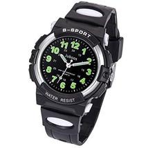 Kids Watch, Child Quartz Wristwatch with for Boys Kids Waterproof Time T... - $18.29