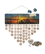 MY BIBY Jigsaw Puzzles Design Family Friends Birthday Calendar Wood Wall... - $15.03