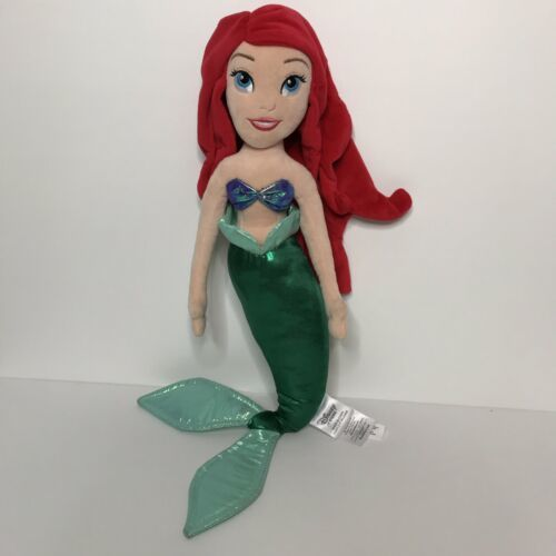 "Disney Store Ariel Little Mermaid Plush Doll Stuffed Toy Princess 18"""