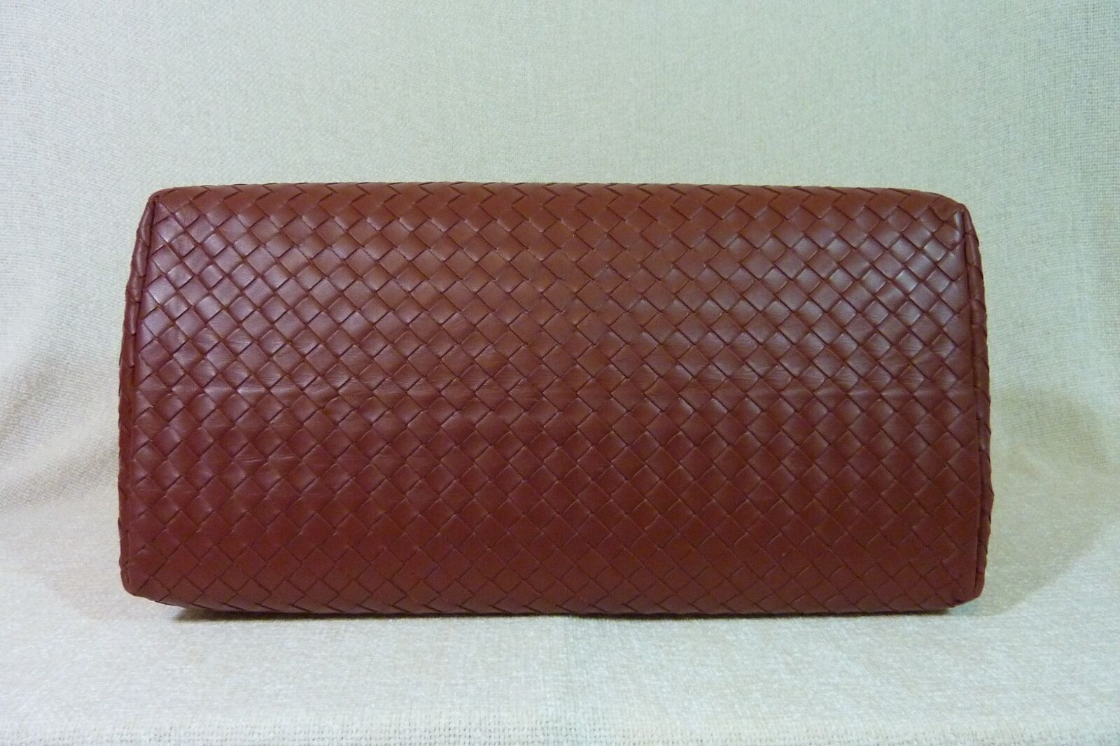 AUTH NWT Bottega Veneta Medium Roma Bag In Russet Intrecciato Calf Leather image 8