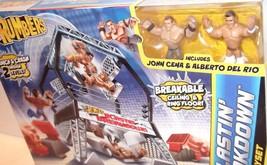 ✰ WWE Blastin' Breakdown Ring Cage John Cena & Del Rio figures Rumblers Sealed - $26.99