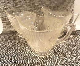 3 Iris & Herringbone Depression Glass Crystal C... - $9.99