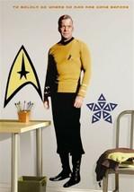 Star Trek Classic Captain Kirk Giant Wall Sticker, MINT NEW UNUSED - $24.18