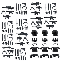 Custom Minifigures SWAT Armor Weapons Set Compatible w/ Lego Sets Army M... - $12.49