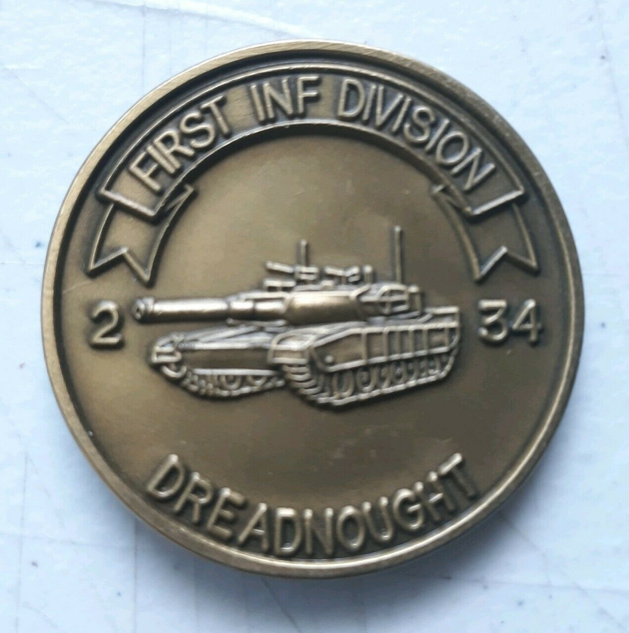 """U.S. ARMY PATRIOTIC- """"ARMORED UNIT"""" - GREAT GIFT- AMERICAN- COIN - $19.79"""