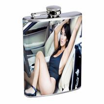 Switzerland Pin Up Girls D9 Flask 8oz Stainless Steel Hip Drinking Whiskey - $12.82
