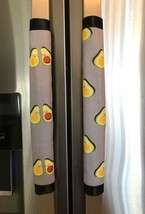 Refrigerator Door Handle Covers Set of Two Avocado Theme 12L X 4.5W - $12.99