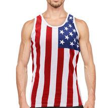 Men's USA American Flag Sleeveless Shirt Summer Beach Patriotic Tank Top image 14