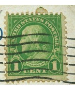 Vintage Antique American 1926 Postage Stamp Ben Franklin Light Green 1 C... - $20.00
