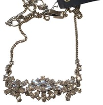 Givenchy Silver Tone Swarovski Element Crystals Necklace,NWT$78 image 1