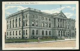 Mercer County Court House Trenton NJ Vintage Curteich 1941 Linen Postcard - $3.90