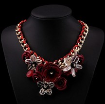 17 Colors CHOKER NECKLACES Fashion Flower Jewelry Chunky Statement 2015 ... - $18.63