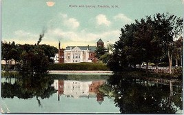 Early 1900s Opera and Library, Franklin, NH postcard - $8.75