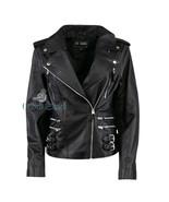 Handmade pure leather biker jacket for women - $160.00+