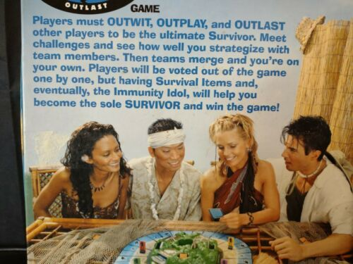 Primary image for 2000 First Edition Survivor 4-8 Adult Board Game Mattel CBS Reality Show ️️