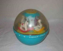 """Neat Vintage 6"""" Fisher Price Roly Poly Chime Ball #165 - $41.42"""