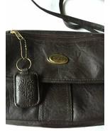 Purse TR  BENTLEY Brown Faux Leather Shoulder Strap Key Fob Zipper Med. ... - £7.53 GBP