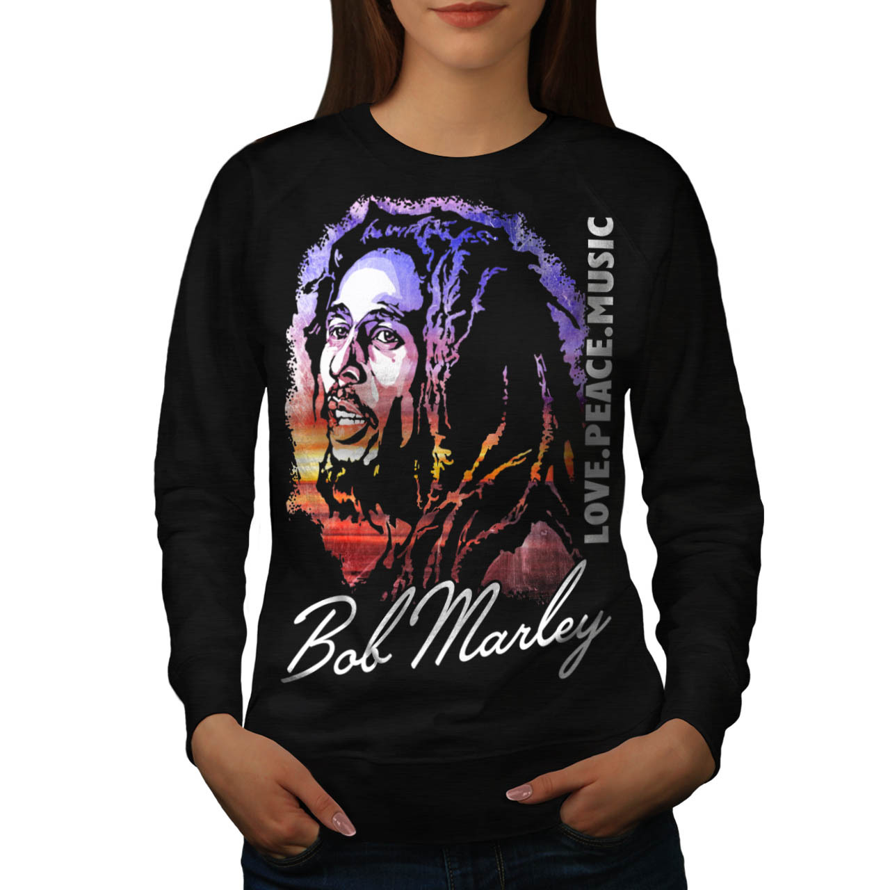 Primary image for Bob Marley Love Celebrity Jumper Be Positive Women Sweatshirt