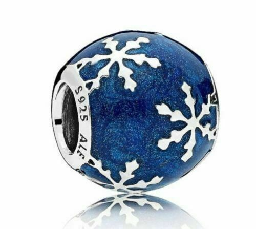 NEW/TAGS AUTHENTIC PANDORA CHARM, WINTRY DELIGHT, MIDNIGHT BLUE #796357EN63