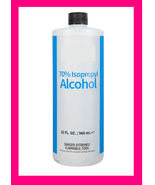 70% Isopropyl Alcohol Beauty Home Multi Use HUGE 32oz Bottle BRAND NEW I... - $25.00