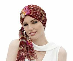 Bamboo Chemo Headwear Hat and Scarf for Women with Cancer Hair Loss Dais... - $55.49