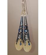 Blue Filigree Dangle Earrings - $35.00
