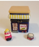 Toy Store Trinket Box Treasure Holder With Toys Collectible Porcelain Hi... - $28.00