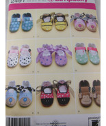 Simplicity 2491 Baby Shoes Booties Monkey Bear Dog Pattern all sizes UNC... - $3.46