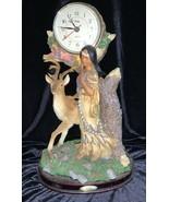 Rubg's Collection Crosa Battery Mantle Clock Buck Deer Maiden Works Good - $110.00