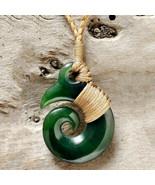 Hand Crafted Jade Koru Necklace - $165.00