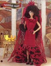 Spanish Rose Dress & Mantilla fits Barbie Doll Crochet PATTERN Leaflet - $4.47