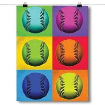 Inspired Posters Pop Art - Baseball Poster Size 18x24 - $12.74