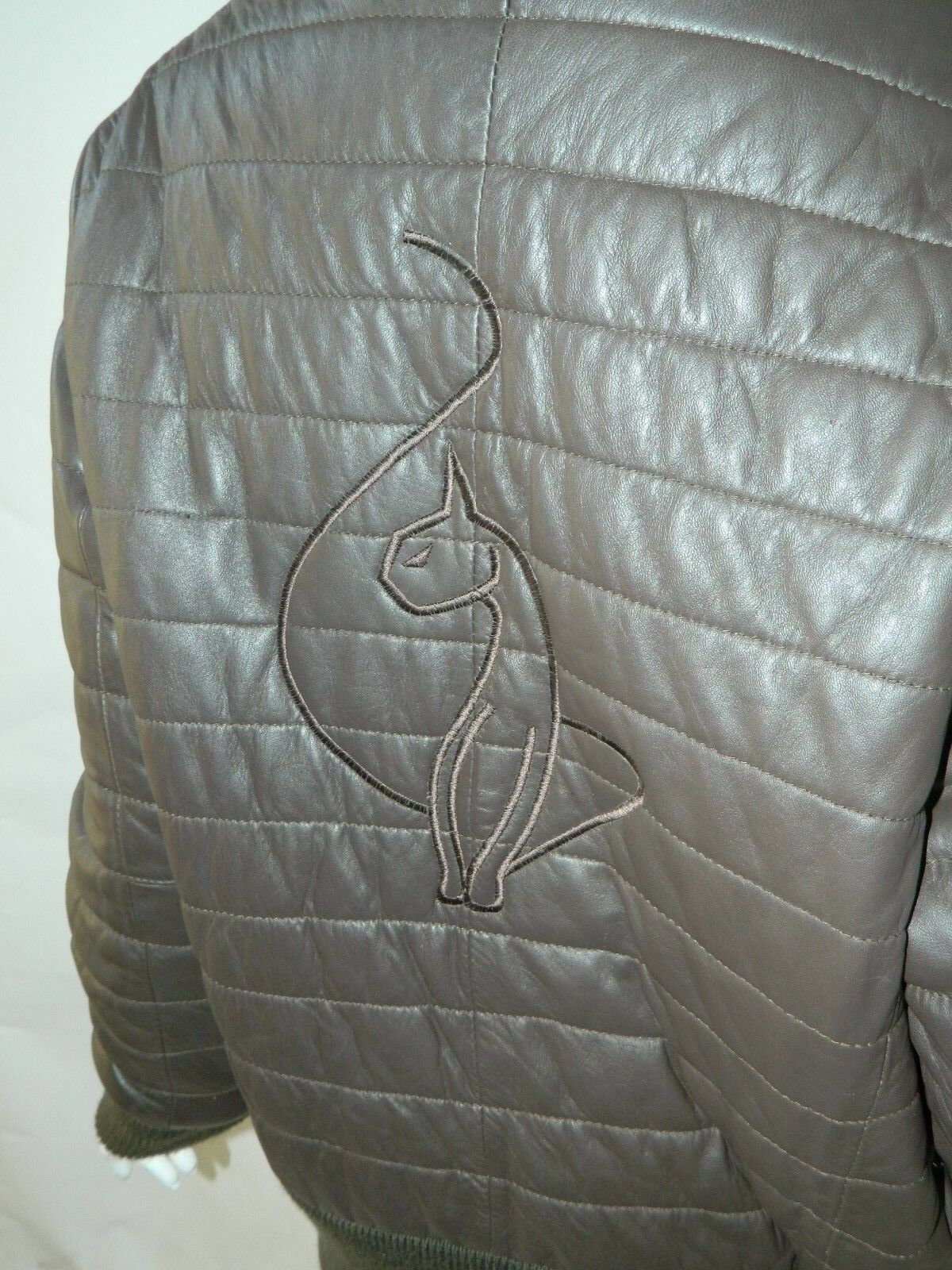 BABY PHAT Jacket Puffer Leather Kimora Lee Simmons Brown Coat XX-Large image 4