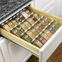 Spice Rack Tray 4 Tier Heavy Gauge Steel Drawer Organizer for Kitchen Ca... - £37.46 GBP