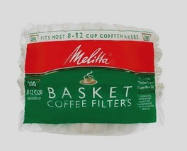 New 200ct MELITTA Basket Coffee Filters Fits Most 8-12 Cup Makers Brewer... - $6.25