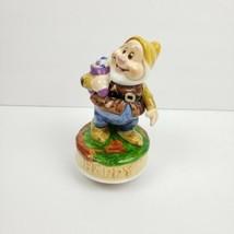 Disney Schmid Music Box Snow White 7 Dwarfs Make Someone Happy Turns Handpainted - $21.99