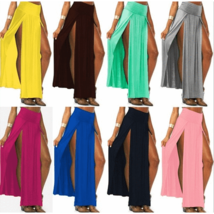 Sexy High Waisted Double Slits Maxi Skirt - $14.00