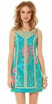 $198 Lilly Pulitzer Macfarlane Gold Lace Multi Lilly Lounge Small Shift ... - $130.50