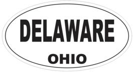 Delaware Ohio Oval Bumper Sticker or Helmet Sticker D6076 - $1.39+