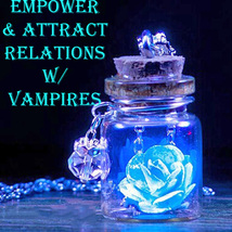 Haunted EMPOWER & ATTRACT VAMPIRE RELATIONS GLOW NECKLACE MAGICK 925  - $23.00